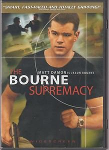 The Bourne Supremacy (DVD, 2004, Widescreen) Matt Damon QUICK SHIP
