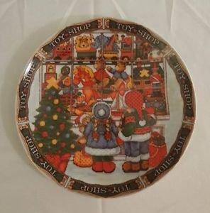 Royal Norfolk  The Village Toy Shop  Christmas  Salad Plate Decorative