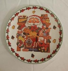 Royal Norfolk SANTA  Christmas Salad Plate Decorative