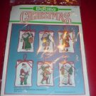 Bucilla Old Time Santas 82633 Christmas Counted Cross Stitch Kit Set of 6 NIP