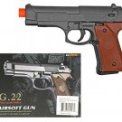 Metal Airsoft Pistol Fux Wood Grips 230 FPS 6.5 Inches Long