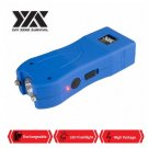 DZS Maximum Power Rechargeable Blue Stun Gun With LED Flash Light