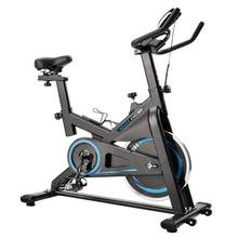 Chromed Flywheel, Silent Belt Drive Indoor Cycle Bike w/Leather Resistance Pad (BLUE)