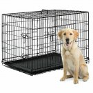 "48"" Pet Kennel Cat Dog Folding Crate Animal Playpen Wire Cage"
