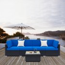 5 Pieces Weaving Rattan Sofa Set