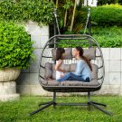 Luxury 2 Person Wicker Swing Chair Rattan X-Large Double Hanging Egg Chair