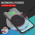 Qi Fast Wireless Charger Charging Pad For iPhone X 8 Plus & Galaxy (BLACK)