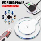 Qi Fast Wireless Charger Charging Pad For iPhone X 8 Plus & Galaxy (WHITE)