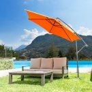10 Feet Patio Umbrella (RUST RED)