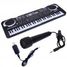 Music Workstation 61 Key Digital Music Electronic Learning Keyboard With Microphone