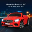 12V Licensed Mercedes-Benz SL500 Kids Ride On Car w/ RC & Music & Spring Suspension