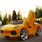 2.4G Kids Double Door Porsche RC Model Ride On Car With Bluetooth Music & LED Display
