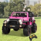 Children's 12V Electric Ride On Jeep with Remote Control, 3 Speeds, Head Lights Model