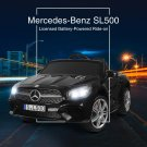 12V Kids Ride On Mercedes Benz SL500 Electric Car w/Remote Control & Music & Spring Suspension ...