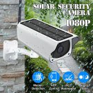 Solar Powered Camera HD 1080P Wireless WiFi PIR Waterproof Outdoor Security Camera