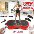 500W  Exercise Vibration Machine Plate Platform Body Shaper with Resistance Bands