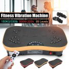 500W 150KG/330lb Exercise Fitness Vibration Plate Machine Platform Body Shaper with Resistance Bands