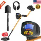 LCD Metal Detector Gold Digger Hunter Deep Sensitive Waterproof Coil + Headphone