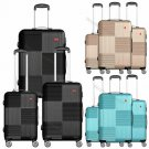 3-Piece Hardside Luggage Set with Spinner Wheels Lightweight 20'' 24'' 28''