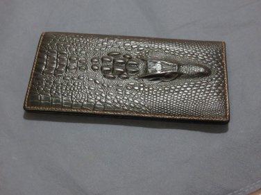 Crocodile Head Luxury  Long Wallet