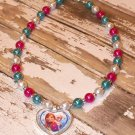 Custom Boutique Disney Frozen Sisters Heart Shaped Pendant Necklace