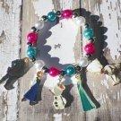 Custom Boutique Frozen Anna Elsa Olaf Charm Bracelet