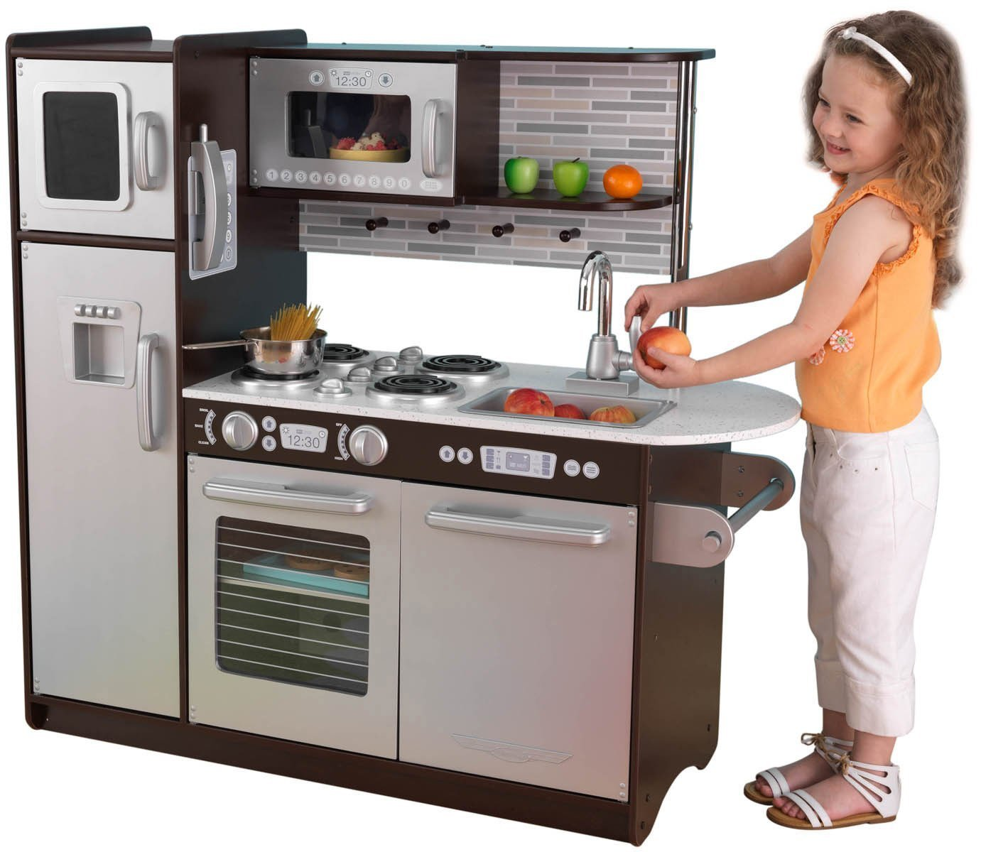 kidkraft kitchen island kitchen kidkraft uptown play set espresso pretend 12823