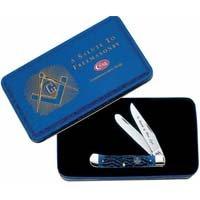Blue Bone Masonic Knife