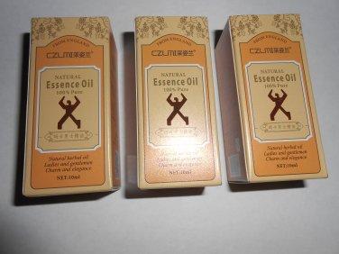 3  Male Natural Essential Oils Penis Enlargement Oil
