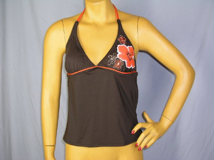 SPEEDO Tankini Halter Top Small S 4 6 New Womens