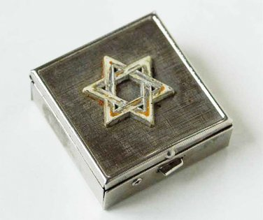 Rare WW2 box for pills with Yellow David star from Warsaw Ghetto
