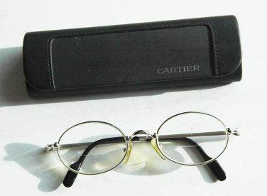 Authentic MUST DE CARTIER Glasses Eyeglasses with case, stamped and numbered