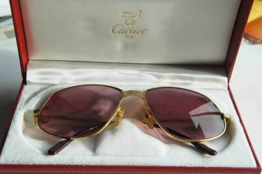 Authentic MUST DE CARTIER Sunglasses Eyeglasses with box, stamped and numbered