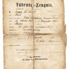 Extremely Rare German WW1 Driver License, 1924 Fuhrung Zeugnis