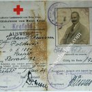 German WW1 RED CROSS MEMBER'S PHOTO ID CARD, document passport