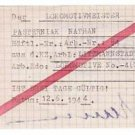 Extremely Rare German WW2 Order to Work for Prisoner from Litzmannstadt Ghetto