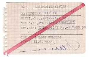 Extremely Rare German WW2 Order to Work for Prisoner from Litzmannstadt Ghetto