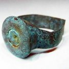Unusual German WW2 Ring made with SHELL Cartridge, Soldier Art Trench