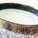 German WW1 Bracelet with Iron Cross, SOLDIERs Trench ART, 1915 - 1916