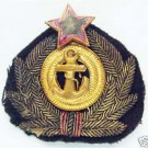 Russian WW2 Badge of the Naval Cap Badge, 1943 red  star