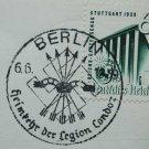German WW2 postcard with original stamp LEGION CONDOR, 1939