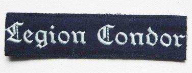 German WW2 Luftwaffe Legion Condor Cuff Title � KG 53, badge