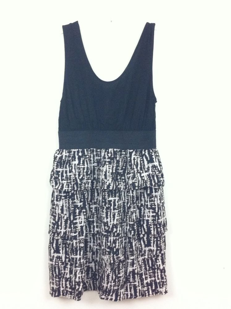 MOSSIMO BLACK SLEEVELESS BEACH SUMMER CRUISE DRESS SIZE SMALL