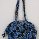 VERA BRADLEY PURSE NAVY BLUE PAISLEY RETIRED HANDBAG