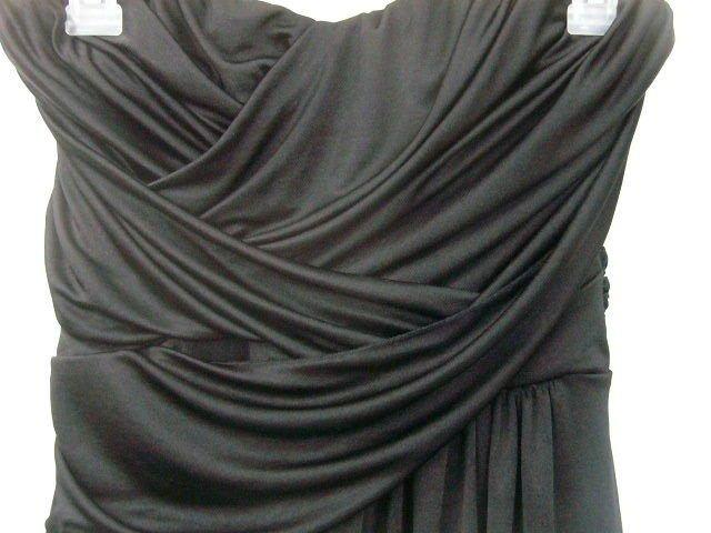 EXPRESS BLACK RUCHED SLEEVELESS DRESS FORMAL SIZE MEDIUM FLATTERING HOLIDAY!