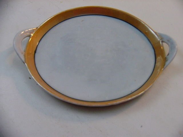 Vintage 1920's Takito Japan Porcelain  Plate or Tray with hangles very rare find