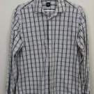 GAP MENS BUTTON DOWN SHIRT SIZE MEDIUM LONG SLEEVE COTTON WHITE BLACK