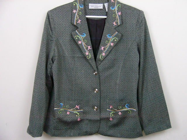 TWO TWENTY COLLECTION NEW BLAIR BLAZER JACKET SIZE LARGE WOOL BLEND HARRINGBONE