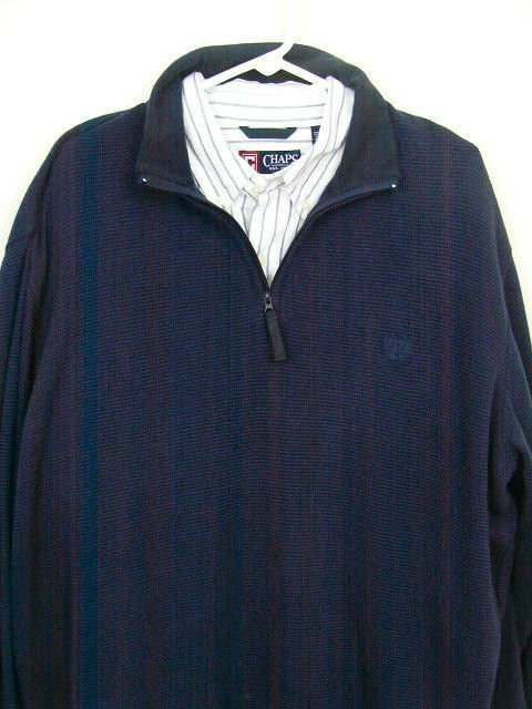 Mens Dark Blue CHAPS RALPH LAUREN Pullover Sweater and Button down shirt XLarge