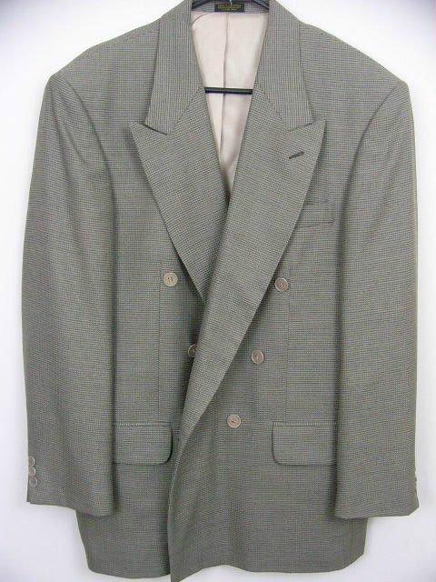 Oscar De La Renta DESIGNER men's sage color sport coat blazer lined SIZE 44R